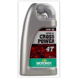 ÓLEO MOTOREX CROSS POWER 4T 10W/50- 10W/60 1 LITRO/4 LITROS
