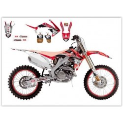 KIT AUTOCOLANTES BLACKBIRD REPLICA MUSCLE MILK TJ 2014 HONDA CRF 250 R 10-13 CRF 450 R 09-12