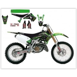 KIT AUTOCOLANTES COMPLETO REPLICA MONSTER ENERGY KAWASAKI RACING TEAM 2015 BLACKBIRD KX 125/250 03-08