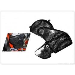 PROTECTOR TAMPA MAGNETICO 4MX CARBONO KTM EXC 250/300 11-16 HUSQVARNA TE 250/300 14-16