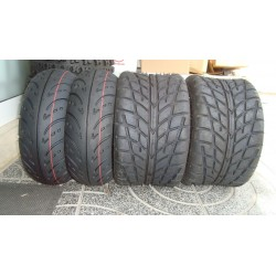 KIT PNEUS SUN-F 130/70-10 / 225X45-9 4T - ROAD SLICK