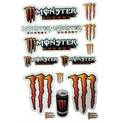 FOLHA DE AUTOCOLANTES MONSTER ORANGE