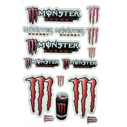 FOLHA DE AUTOCOLANTES MONSTER RED