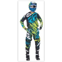 CONJUNTO FLY RACING KINETIC RELAPSE AZUL/LIMA 2017
