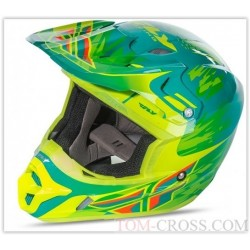 CAPACETE FLY RACING KINETIC PRO REPLICA AMARELO/VERDE 2017