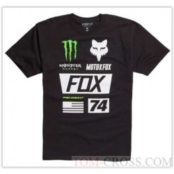 T-SHIRT FOX MONSTER UNION LIMITED EDITION PRETO