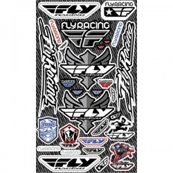 FOLHA DE AUTOCOLANTES FLY RACING DECAL SHEET