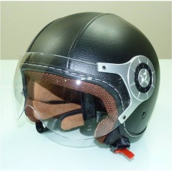 CAPACETE BIO CRUISER LEATHER PRETO